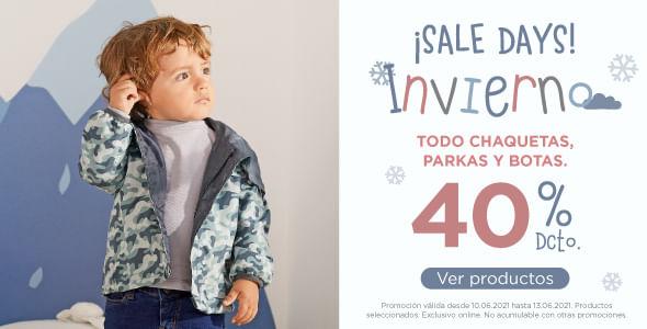 ¡Sale days invierno! 40% dcto