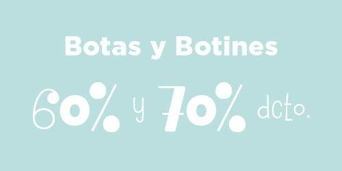 Botas y botines 60% y 70% dcto