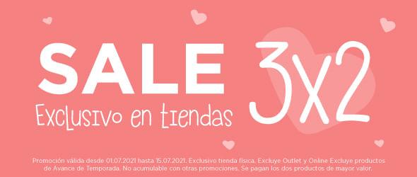 Banner Sale - 3x2 en tiendas