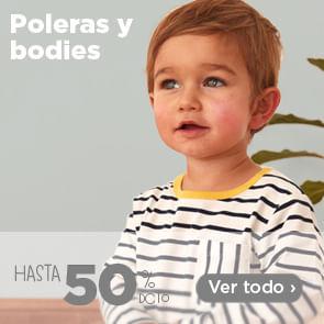 Poleras y Bodies hasta 50%